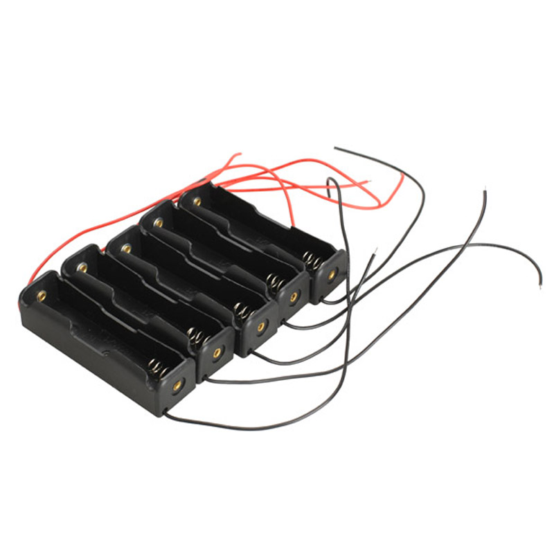 Holder with Wire Leads DIY Case 5X Single Slot 18650 Mobile Battery Clip