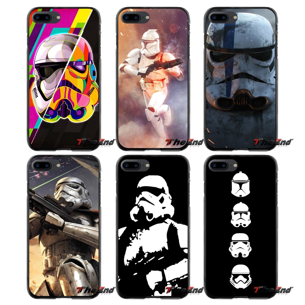 Star Wars Stormtrooper Accessories Phone Shell Covers For Apple iPhone 4 4S 5 5S 5C SE 6 6S 7 8 Plus X iPod Touch 4 5 6