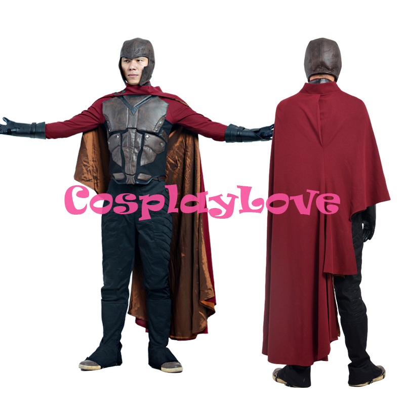 X-Men Days of Future Past Cosplay Magneto Erik Lehnsherr Cosplay Costume Outfit