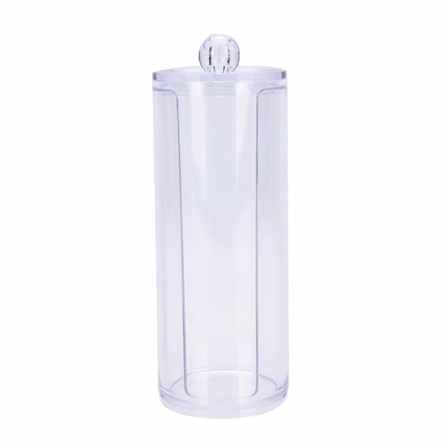 1PC Clear Q Tip Storage Holder Cosmetic Makeup Case Cotton Pad Swab Box  Organizer Wholesale