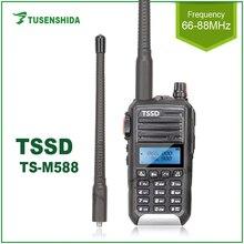 Venta caliente 5W 128 canales VHF Walkie Talkie 66 88MHZ profesional de mano transceptor de dos vías