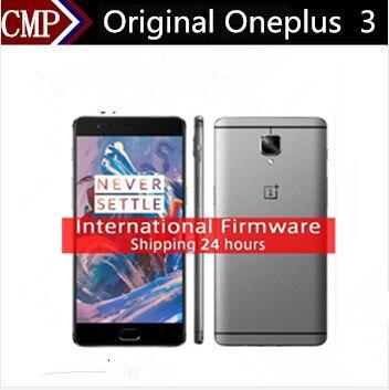 """Международная Версия Oneplus 3 One Plus Три A3003 4 Г LTE Сотовый Телефон Android 6.0 5.5 """"FHD 6 ГБ RAM 64 ГБ ROM 16MP NFC Fingerprin"""