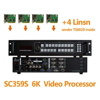 Sdi Video Switcher SC359S Video Processor Scaler For Led Screen Tv Outdoor Install 4 Sending Card