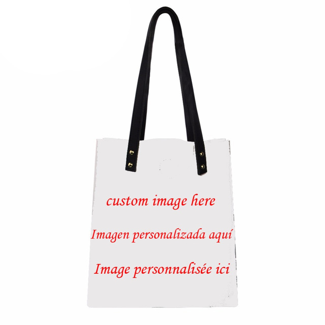 Noisydesigns Brand Your Image Here Customized Create Own Design Handbag Luxury Pu Shoulder Bag Ping