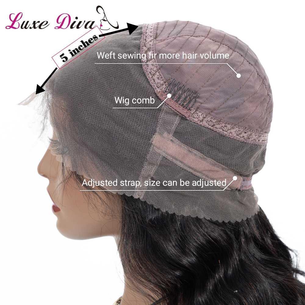 Бразильские парики из натуральных волос на фронте шнурка, волнистые 360 парики, предварительно сорванные с детскими волосами, полный конец remy, натуральные черные Роскошные Дивы