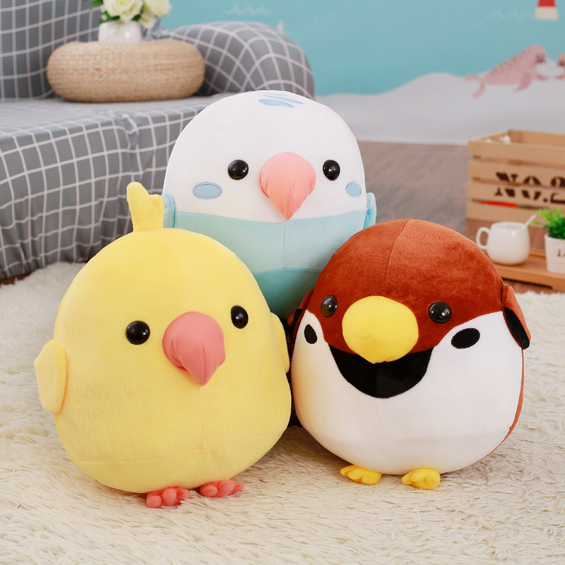 30cm Big Cute Birds Corps Plush Toys Soft Round Birds Stuffed Animals Dolls Pillows Toys For Children Girls Baby Gifts