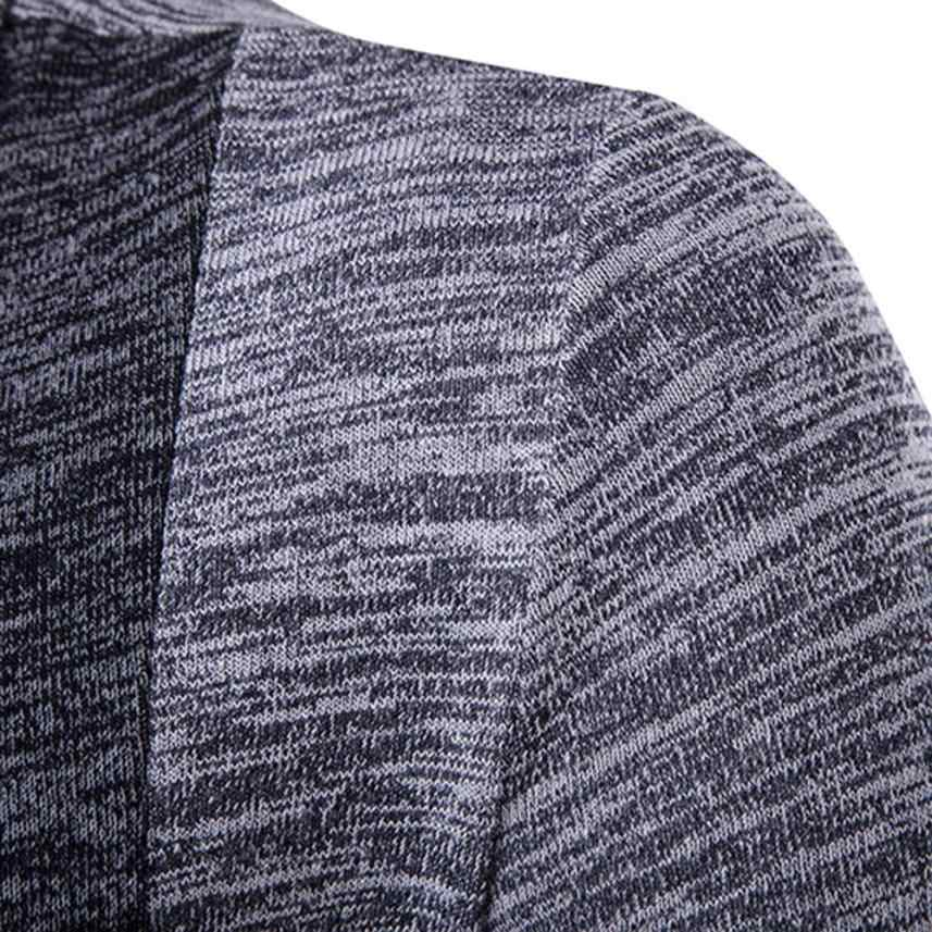Для мужчин осенне-зимний свитер кардиган вязаное трикотажное пальто, куртка, свитер с длинными рукавами в стиле пэчворк мода Мужская ветровка # g6