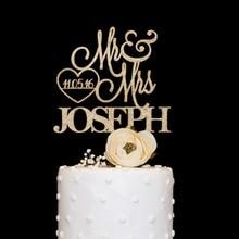 Customized wooden acrylic wedding cake topper with love date Personalized wedding cake topper with last name