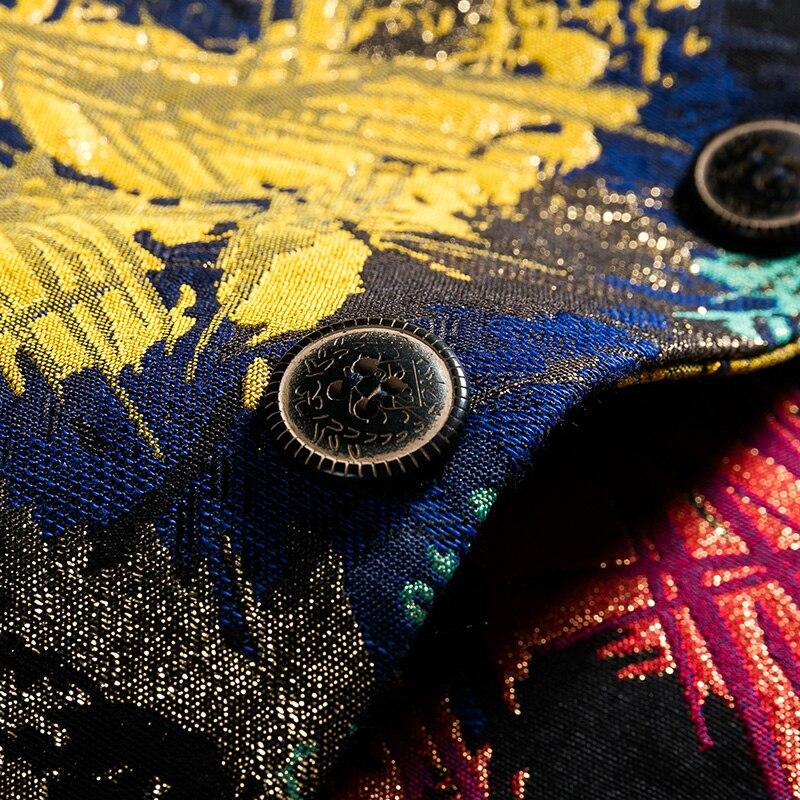 Erkek Kıyafeti'ten Blazerler'de LONMMY 4XL 5XL 6XL Vintage çiçek erkekler blazer Slim fit İki düğme düğün elbisesi takım elbise erkekler Rahat Sonbahar erkek çiçek blazer bahar'da  Grup 3