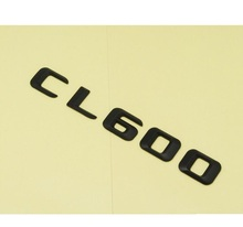 Matt Black ABS Car Trunk Rear Number Letters Words Badge Emblem Decal Sticker for Mercedes Benz CL Class CL600