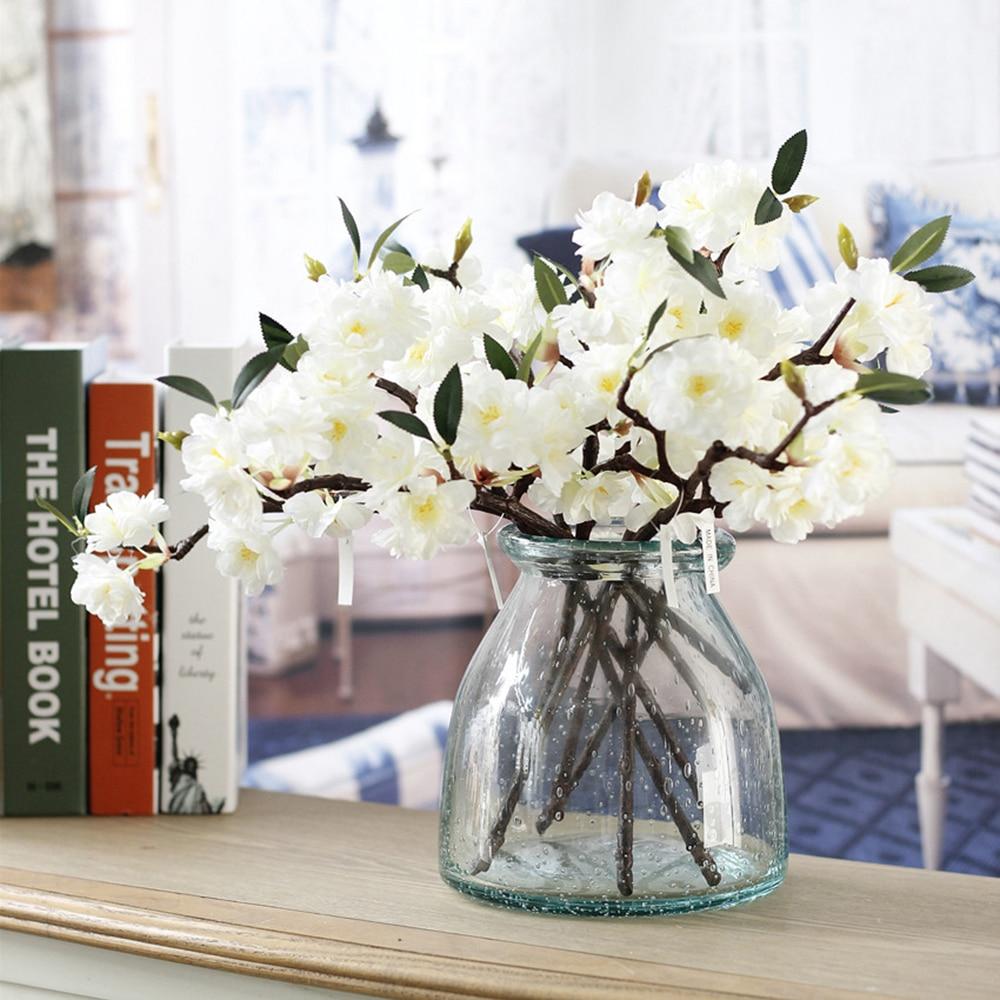 Искусственные Поддельные Cherry Blossom Шелковый цветок Гортензия для невесты Home Decor белый P20