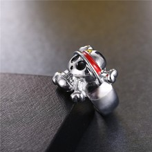 One Piece Silver Plated Ring
