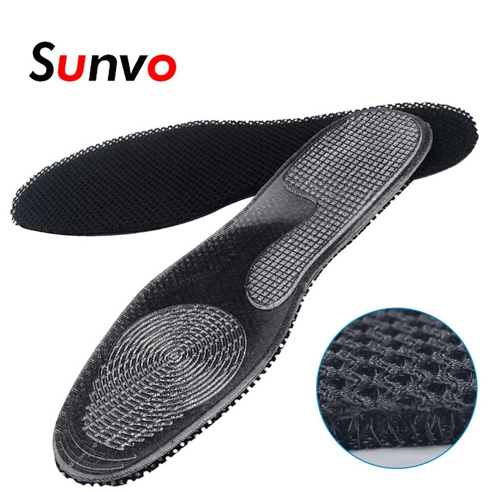 Sunvo Breathable Nylon Insoles Shock Absorption Lightweight Deodorization Shoes Soles Cushion Pads for Women Men Casual InsertsSunvo Breathable Nylon Insoles Shock Absorption Lightweight Deodorization Shoes Soles Cushion Pads for Women Men Casual Inserts