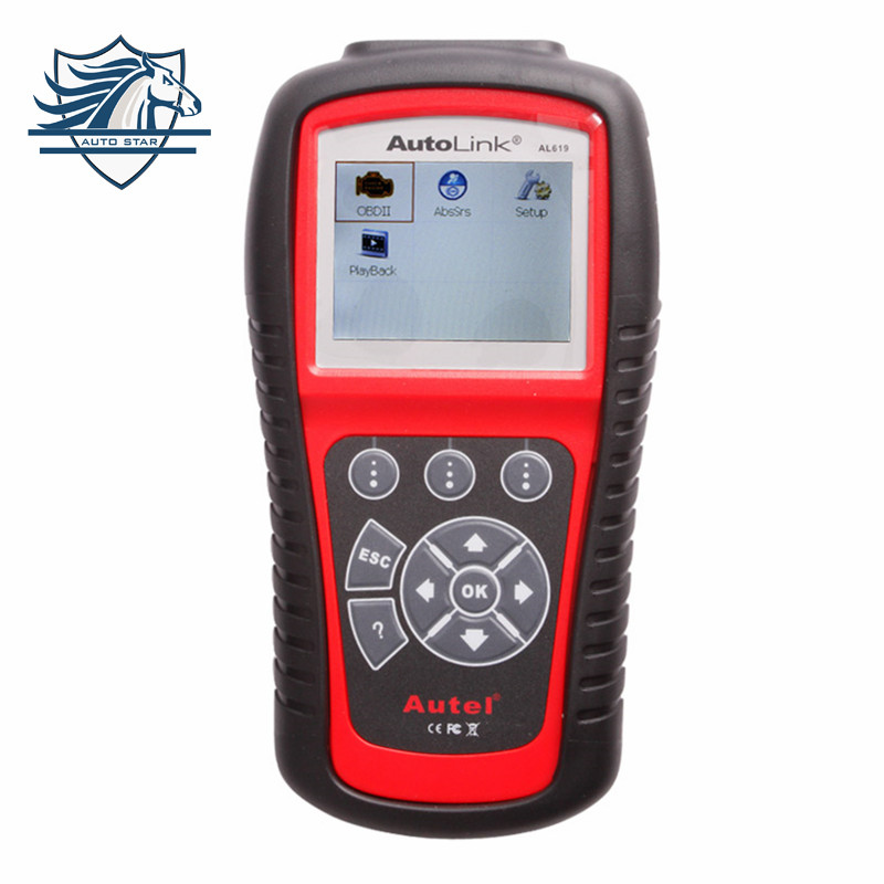 Цена за Верх Подушки Crash Data Сброс Инструмент Autel Автоссылка AL619 Диагностический инструмент Сканер OBD2 Code Reader SRS МОЖЕТ ABS Airbag Бесплатная Доставка