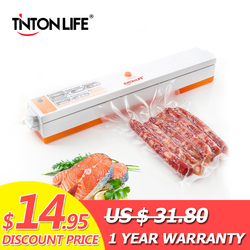 TINTON LIFE 220V/110V Household Food Vacuum Sealer Packaging Machine Film Sealer Vacuum Packer Including 15Pcs Bags Free