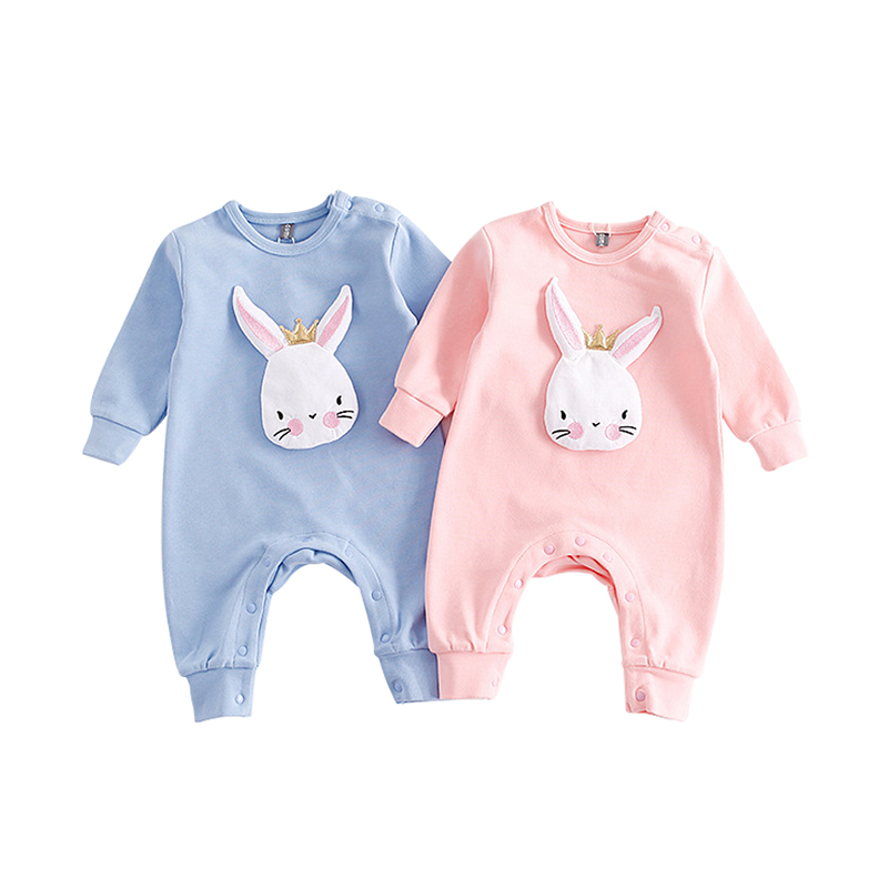 7e754b944 Buy Autumn Newborn Baby Clothes Cartoon Rabbit Baby Rompers Long ...