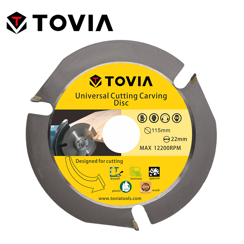 TOVIA 115mm Circular Saw Blade Multitool Grinder Saw Disc Carbide Tipped Wood Cutting Disc Wood Cutting