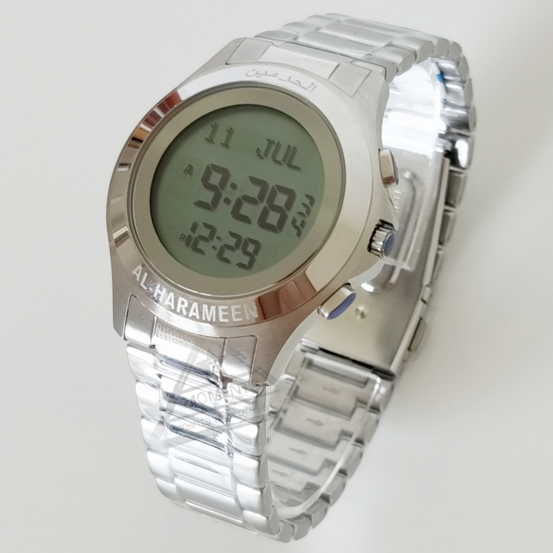 Islam Prayer Watch with Prayer Alram and Quran Bookmaker 6372 Hijri Watch  for Muslim with Azan Time