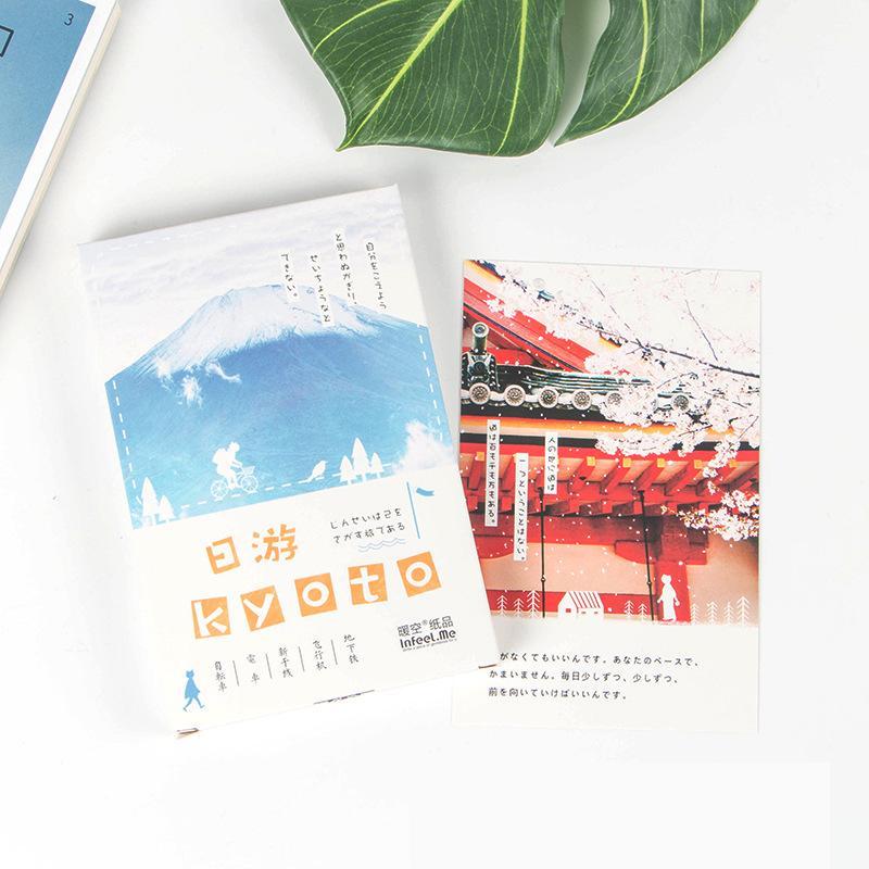 30sheets/LOT Kyoto Postcard /Greeting Card/Wish Card/Christmas and New Year gifts