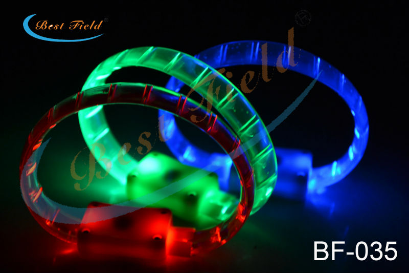 Free shipping MAKE LOGO led bracelets flashing Multicolor bracelet blinking bangle for party favors