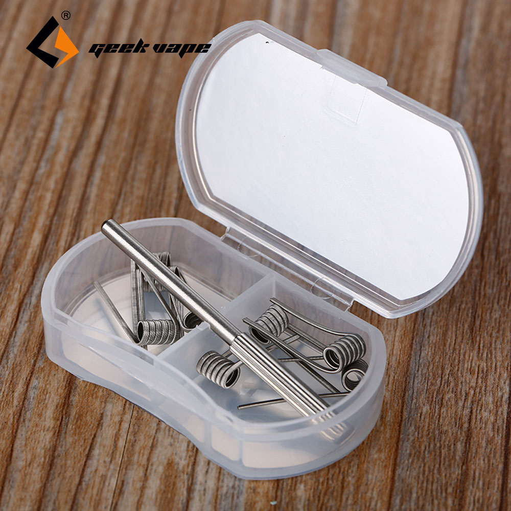 Original 8pcs GeekVape Heating <font><b>Wire</b></font> <font><b>N80</b></font> Fused Clapton DIY Coil <font><b>Wire</b></font> 2 In 1 for RDA/RTA/RDTA Atomizer Tank Big Vape Coil Build image