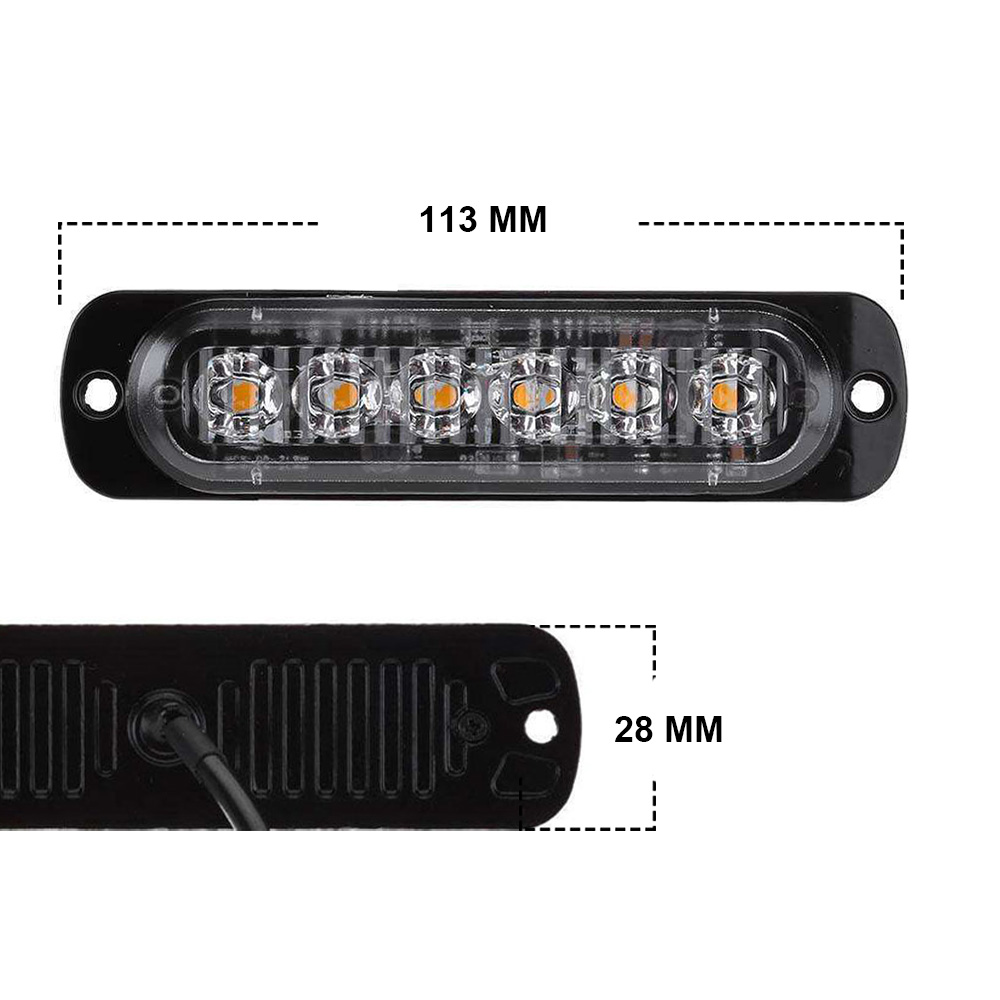 Image 5 - 12/24V 6 LED Car Truck Emergency Warning LED Strobe Side Marker light for Auto Truck Trailer Led Signal Tail Light-in Signal Lamp from Automobiles & Motorcycles