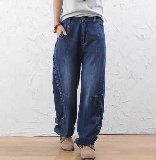 Bloomers pants for font b women b font plus size cotton loose high waist font b