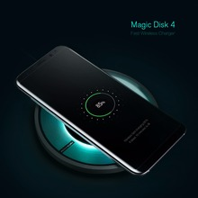 Nillkin Magic Disk 4 Qi Wireless Fast Charger Intelligent chip Portable Charging Pad For Apple iphone X Samsung S8 S7 edge plus