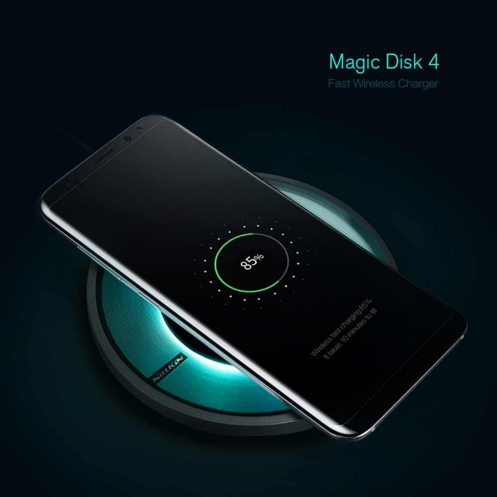 Nillkin Magic Disk 4 Qi cargador rápido inalámbrico chip inteligente almohadilla de carga portátil para iphone X Samsung S9 S8 S7 edge plus