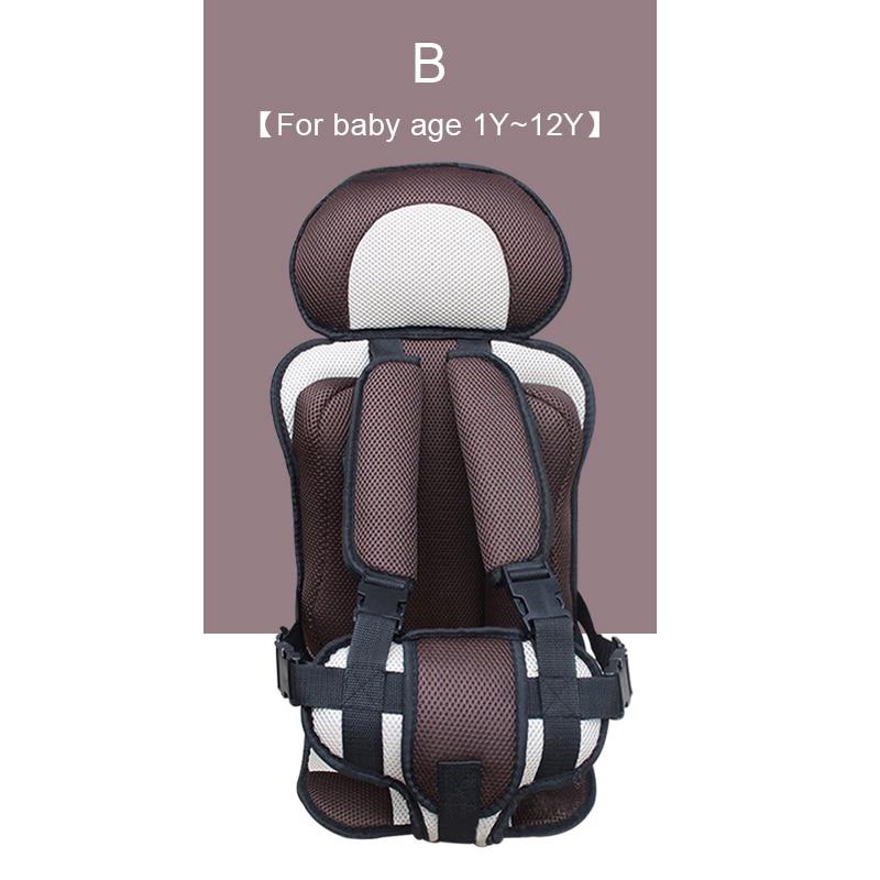 1 шт. удобный детский коврик для сидения, Детские Портативные дорожные подушки для стульев с ремнем безопасности, коврики для сидения для малышей в возрасте От 6 месяцев до 12 лет - Цвет: B