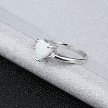 925 Silver Fire Opal Ring For Woman