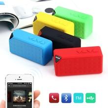 Mini Altavoz Bluetooth X3 USB TF FM Radio Subwoofer Altavoces de Sonido Caja de Música Portátil con Micrófono Inalámbrico para iOS Android