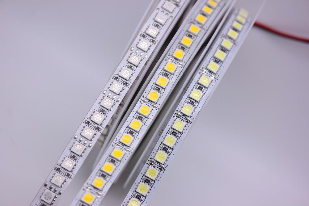 wholesale LED Strip 5050 DC12V 120LEDs/m Flexible LED Strip tape Lighting RGB /Warm white/White 5050 LED high brightness