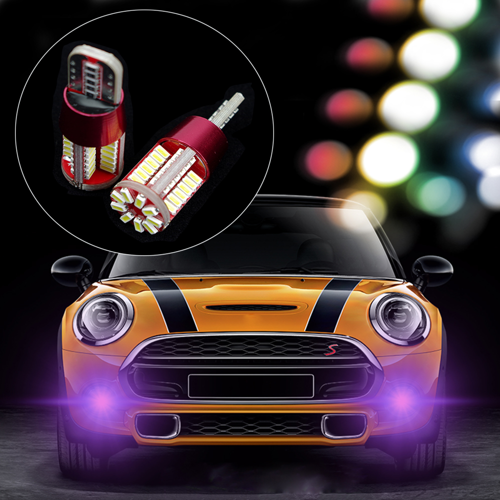 2PCS T10 LED Auto Wedge Marker Bulb SMD 3014 Width Lamp Car Signal Clearance Light For Mini Cooper JCW Car Styling Accessories 2pcs best price white h3 28 led 3528 smd 1210 car auto light source headlight fog head signal lamp bulb dc12v