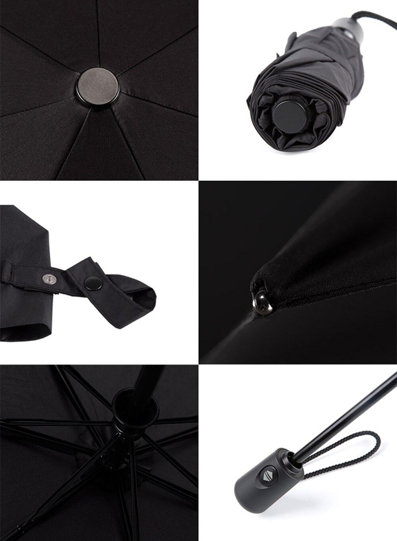 Xiaomi Mijia автоматический Солнечный дождливый Bumbershoot алюминиевый ветрозащитный водонепроницаемый УФ зонтик для мужчин и женщин летний зимний зонт
