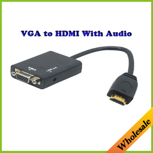 HDMI Male to VGA Female extension cable Adapter Converter Cable with Audio Output for PC HDTV Projector 1080P