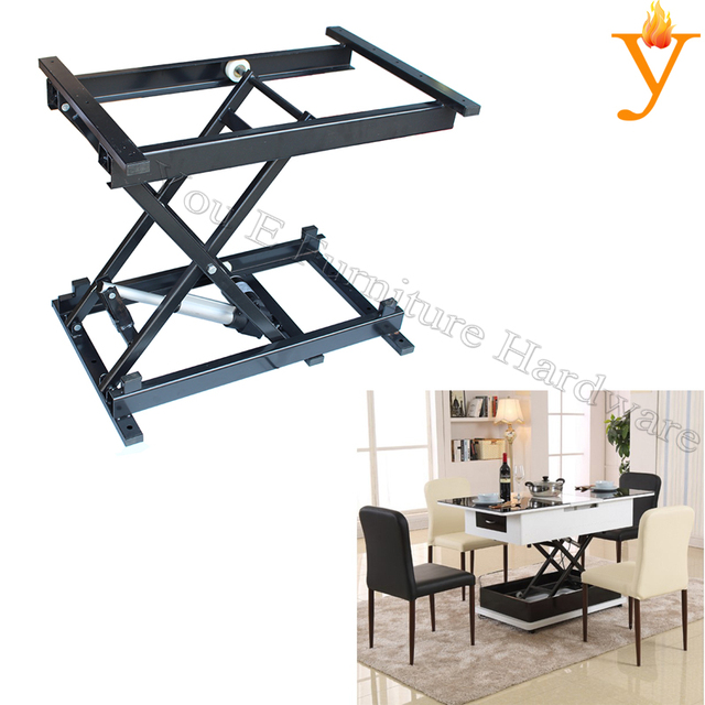 Functional Coffee Table Dining Folding Table Mechanism With Electric - Motor coffee table