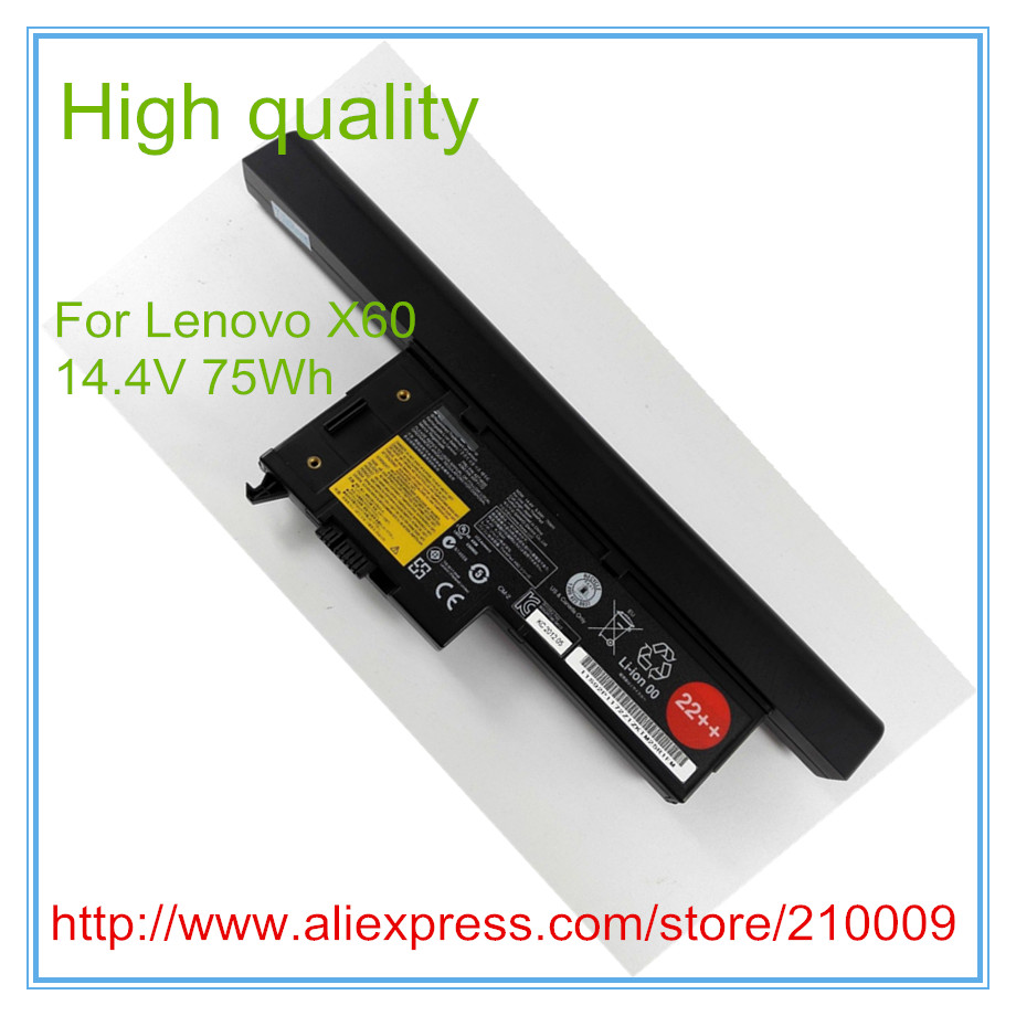 75WH Original New Laptop Battery for  X60 X60S X61 X61S FRU P/N 42T4632 ASM P/N 92P1172 7xinbox 15 2v 50wh laptop battery for lenovo asm p n sb10f46441 fru p n oohw003 4icp5 58 73 2