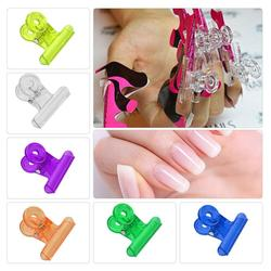 C Curve Nail Pinching Clips Multi Function Plastic Acrylic Nail Extension Paper Holder Multi Function Plastic Acrylic Pincher