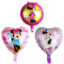 18inch mickey minnie balloon helium air balloon birthday party balloons for baby birthday decoration supplies(China)