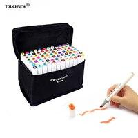 Touchfive 30 40 60 80 168 Colors Pen Marker Set Dual Head Sketch Markers Brush Pen