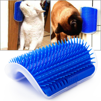 Pet Cat Self Groomer Grooming Tool Hair Removal Brush Comb For Dogs Cats Shedding Trimming Massage Device With Catnip 1