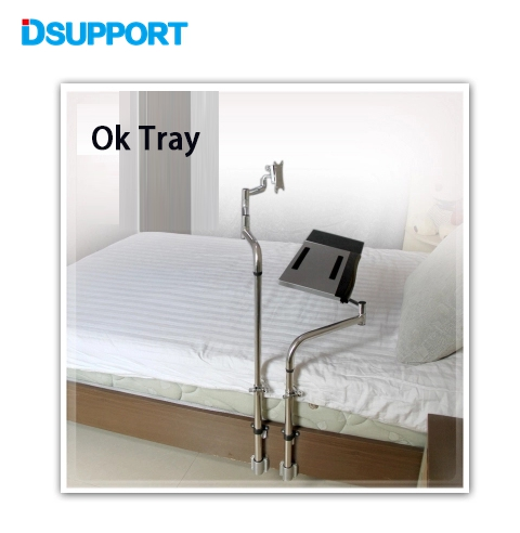OK-730 Bedside Clamping Keyboard Monitor Holder Full Motion Lazy Laptop Desk LCD Computer Mount Stand
