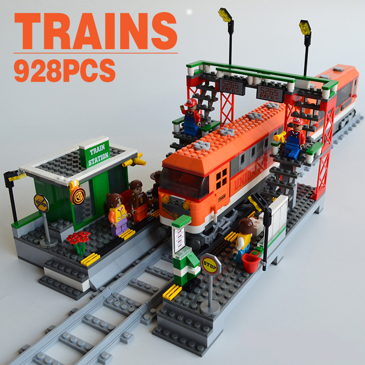 Toy Building Set For Boys : Ausini train series building blocks track station