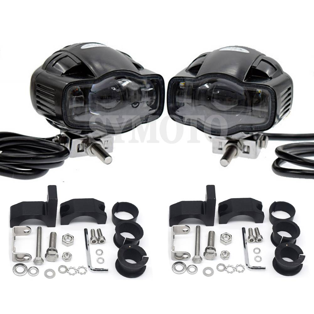 22-40mm CE Universal Motorcycle Car <font><b>headlight</b></font> lamp <font><b>LED</b></font> Super Bright Fog light USB Charger For <font><b>Yamaha</b></font> MT03 MT07 MT09 R3 <font><b>R1</b></font> R6 FZ1 image