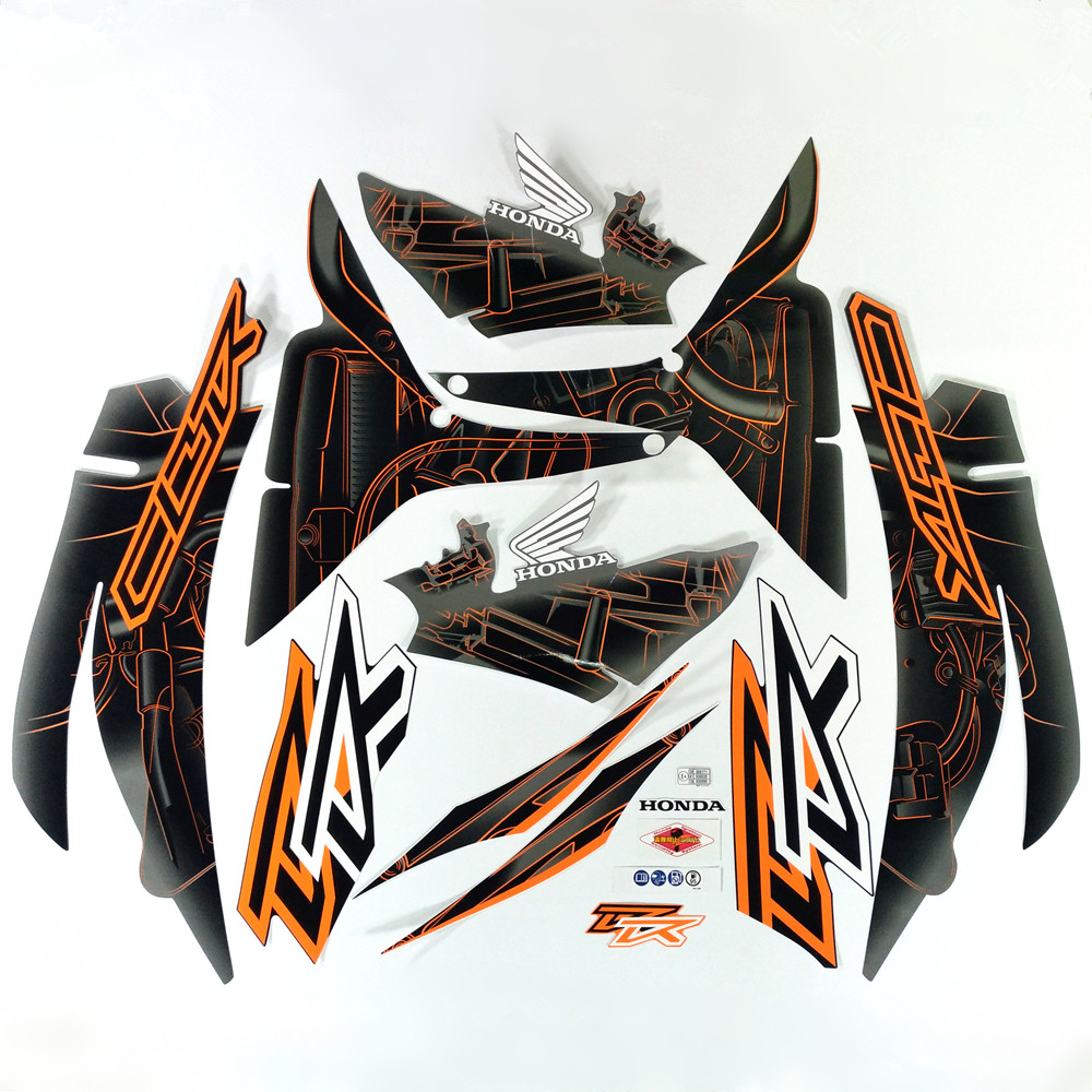 Motorcycle For Honda Sticker CBR600RR 07 12 CBR 600 RR 2007 2012 High Quality Decal Full Kit