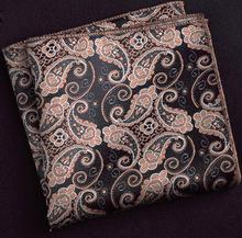 2019 New Popular 23 x 23 CM Man Paisley Pocket Square Flower Dot Men Paisley Casual Hankies For men's Suit Handkerchief