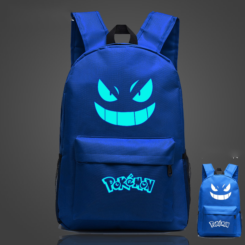 Cosplaylegend Pocket Monsters pokemom School Bags For Teenagers Mens Backpack Night Lights bag