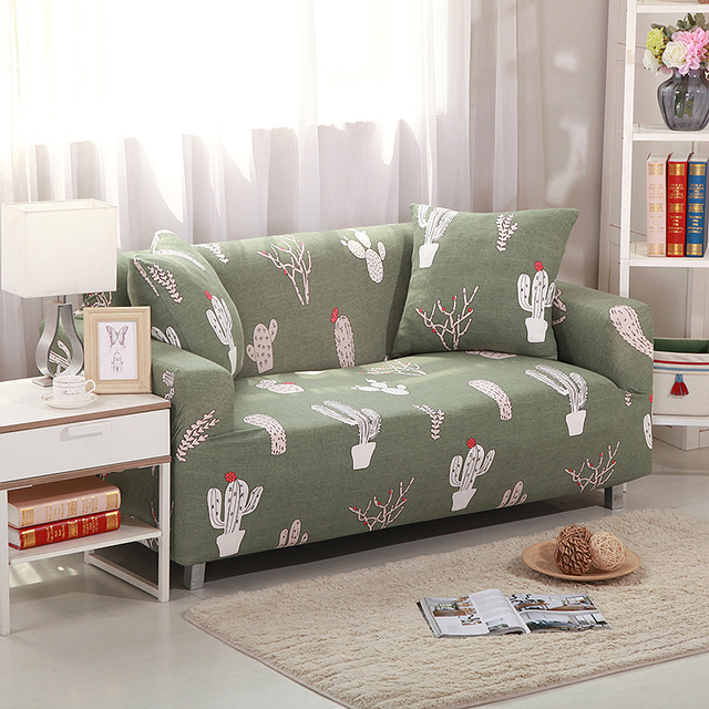 Cactus Stretchable Elastic Furniture Covers Blankets For Sofa Chairs  Slipcovers Wrap Sofa Cover Sofa Protective Sleeve