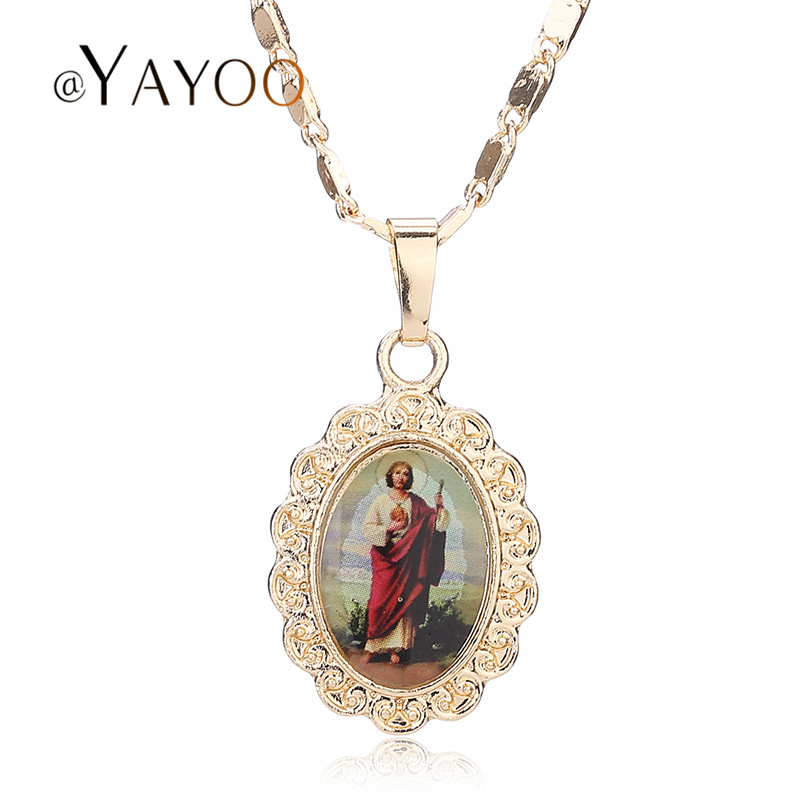 AYAYOO Photo Frame Memory Locket Pendant Necklace Gold Color Romantic Love Heart Vintage Rose Flower Women Statement Jewelry ...